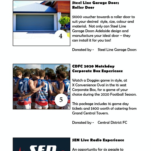 CDFC Annual Gala Auction Items - Central District Football Club